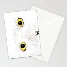 Peer into the Light – Snowy Owl Stationery Cards