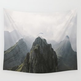 Flying Mountain Explorer - Landscape Photography Wall Tapestry