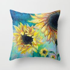 Supermassive Sunflowers Throw Pillow