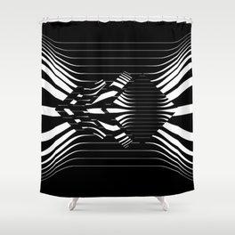 Catch Me in B&W Shower Curtain
