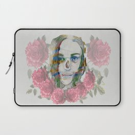 girl and flowers color Laptop Sleeve
