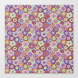 Millefiori-Coolio Colors Canvas Print