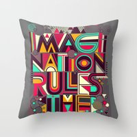 imagination Throw Pillows featuring IMAGINATION by dzeri29