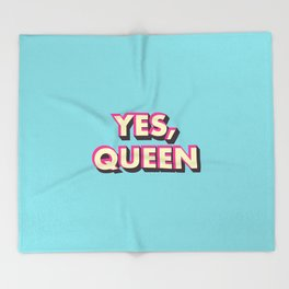 Yes, Queen Throw Blanket