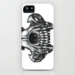 Illustrated Wolf Skull iPhone Case