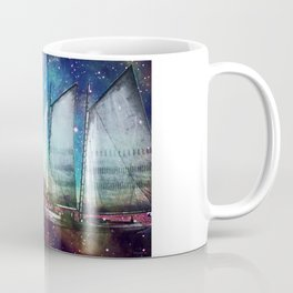 Galileo's Dream - Schooner Art By Sharon Cummings Coffee Mug