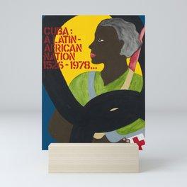 Vintage Cuban Political Poster - Latin African Nation Mini Art Print