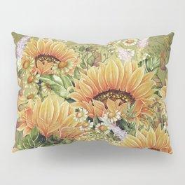 Vintage Garden 5 (Sunflower Field) Pillow Sham