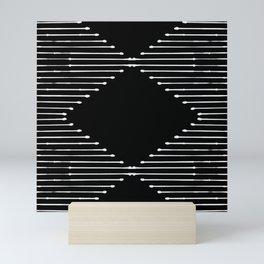 Geo / Black Mini Art Print