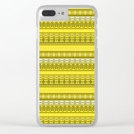 Modern Native Navajo Ethnic Tribal V.02 - Tuscan Sun Yellow Color Clear iPhone Case