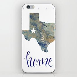 Is Texas Your Home, state of Texas, home typography iPhone Skin