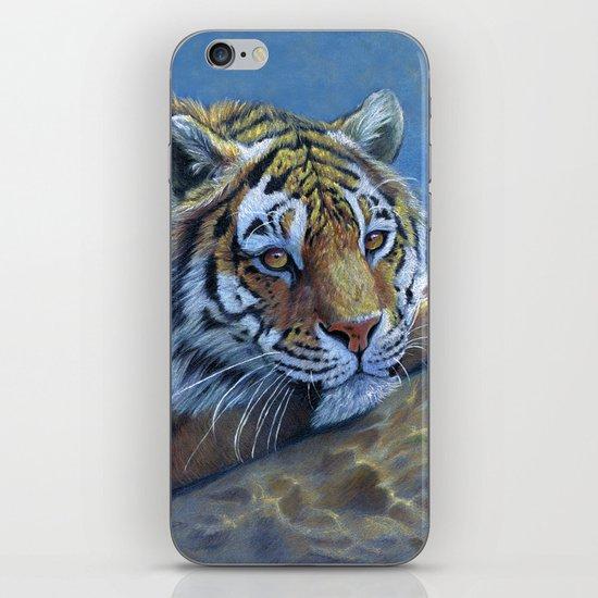 Tiger on the rock CC117 iPhone & iPod Skin