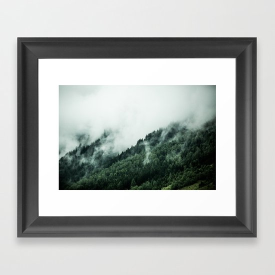 Foggy Woods 1 Framed Art Print
