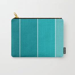 Turquoise Paint Samples Carry-All Pouch