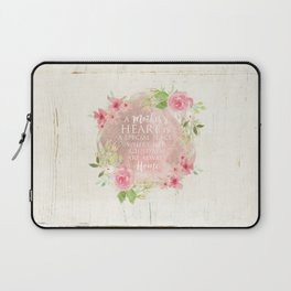 Typography A Mothers Heart Laptop Sleeve