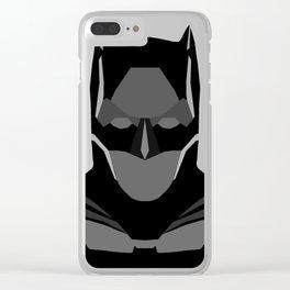 Geomtric Bat-man Clear iPhone Case