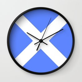 flag of scotland 4– scotland,scot,scottish,Glasgow,Edinburgh,Aberdeen,dundee,uk,cletic,celts,Gaelic Wall Clock