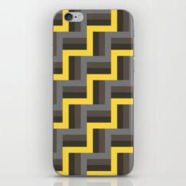 Plus Five Volts - Geometric Repeat Pattern iPhone Skin