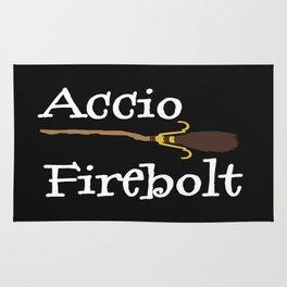 Accio Firebolt! - black Rug