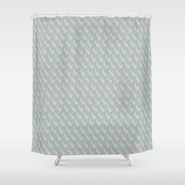 Practically Perfect - Penis in Blue Shower Curtain