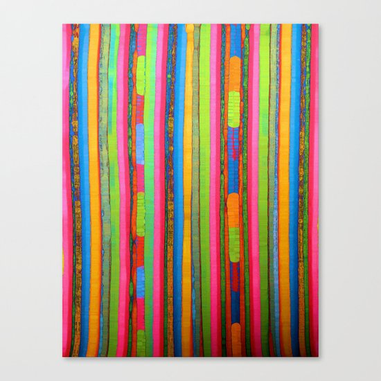 Colorful Funky Stripe Canvas Print