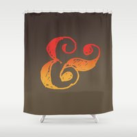ampersand Shower Curtains featuring Ampersand by TheCore