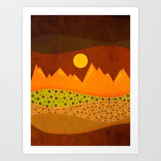 Color/Landscape 9     (By vivigonzalezart) Art Print