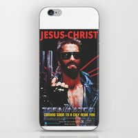 terminator iPhone & iPod Skins featuring God's Terminator by Jessie J. De La Portillo