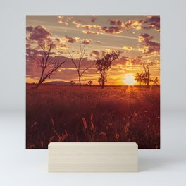 As the Sun Sets in the Heartland Mini Art Print