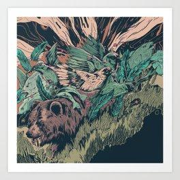 Remix of bear Art Print