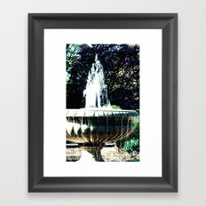 Water fountian Framed Art Print