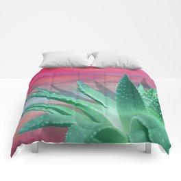 """Pastel Succulent Pink Sunset"" Comforters"