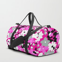 SUNFLOWER TOILE PINK BLACK GRAY WHITE PATTERN Duffle Bag