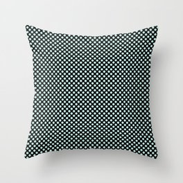 Black and Soothing Sea Polka Dots Throw Pillow