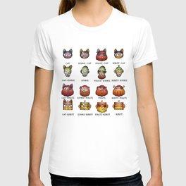Cat Zombie Pirate Robot T-shirt