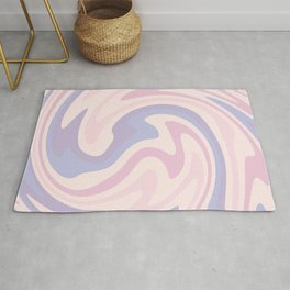 70s retro swirl pink and purple Rug