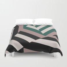 ASDIC/SONAR Dazzle Camouflage Graphic Design Duvet Cover