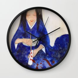The Red candle and the Mermaid Wall Clock
