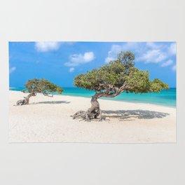 Caribbean Island, Eagle Beach, Aruba Rug