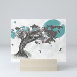 Turquoise Blossom Tree Mini Art Print