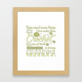 Crochet Grandma Framed Art Print