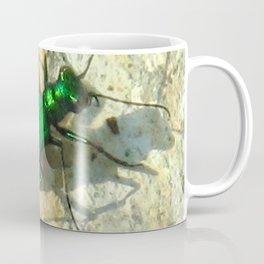 Watercolor Beetle, Six-spotted Tiger Beetle 01, Eno River, North Carolina Coffee Mug