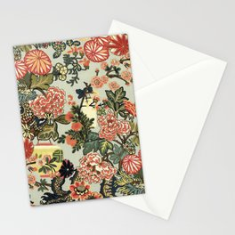 Chinese Dragon Vintage Floral Pattern Stationery Cards