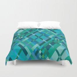 Blue Green Harlequin Pattern Duvet Cover