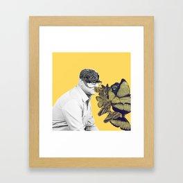 Doctor, I feel butterflies in my head Framed Art Print