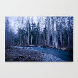 River In a Fog Canvas Print