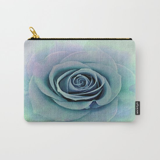 Tender Love Blue -Lavender Rose Abstract Carry-All Pouch