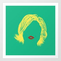 monroe Art Prints featuring Monroe by fly fly away