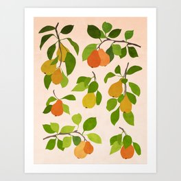 Pear branches Art Print