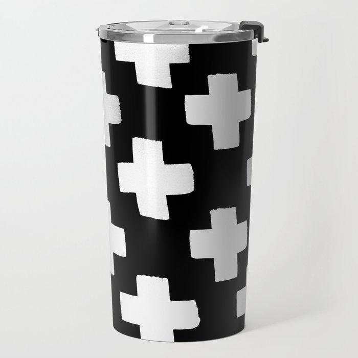 Criss Cross Pattern Travel Mug